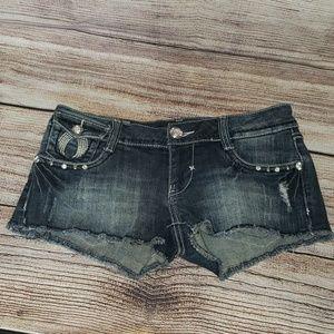 LA Idol Medium W31 L2 1/4 Blue Jean Shorts